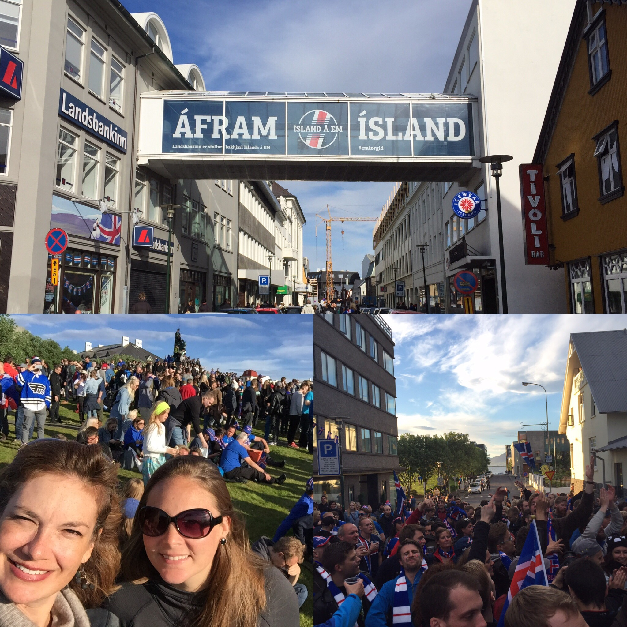 watching the euros with thousands of icelanders , and the party that ensued