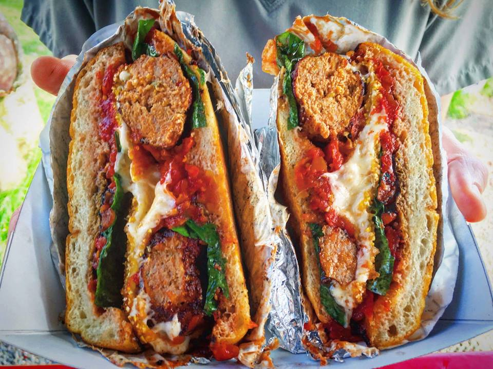 Split Meatball Sandwich