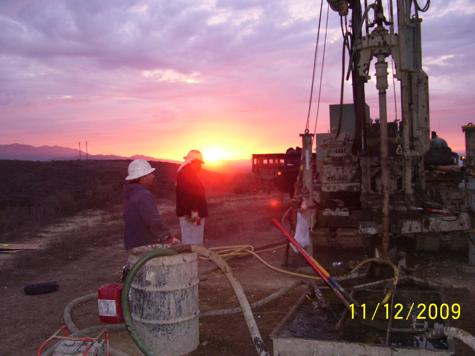 Drilling, Sunset.JPG