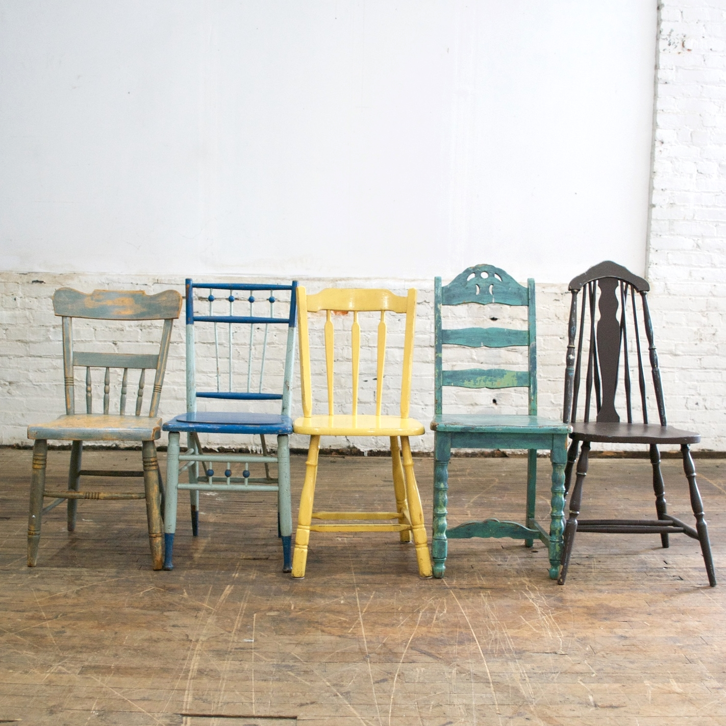 Mixed Colored Chairs (20 available)    $8 each