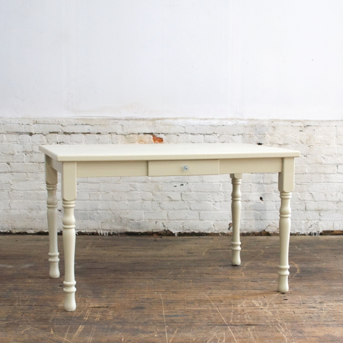 """White Sweetheart Table    $65    4'w, 2'6"""" d, 29""""h"""
