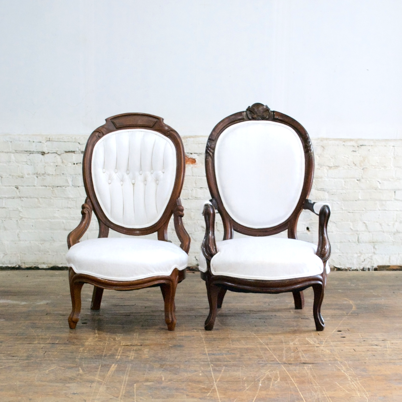 "His/Her Parlor Chairs    $144 pair    24""w 30""d 41""h"