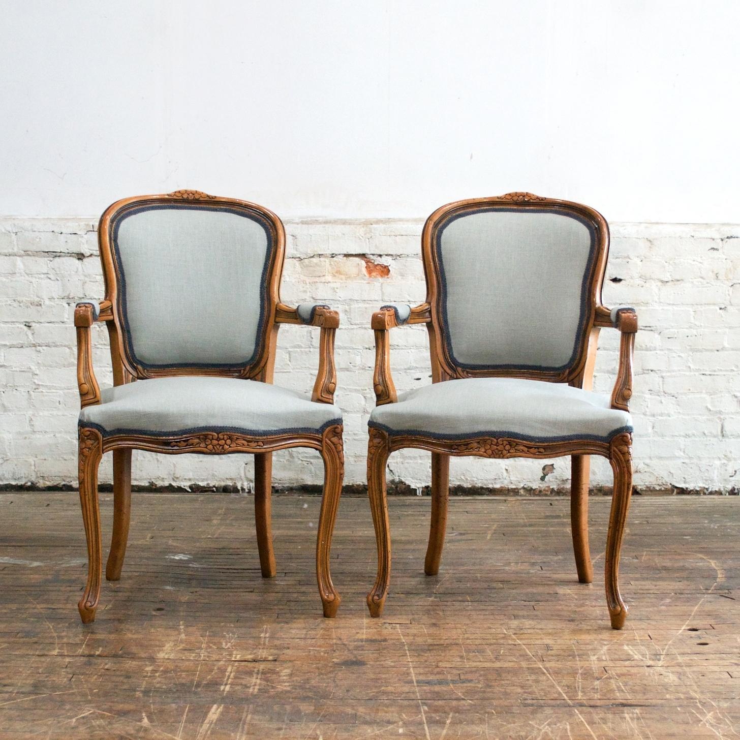 """Sebastian Arm Chairs    $72    23"""" w 21"""" d 37"""" h"""