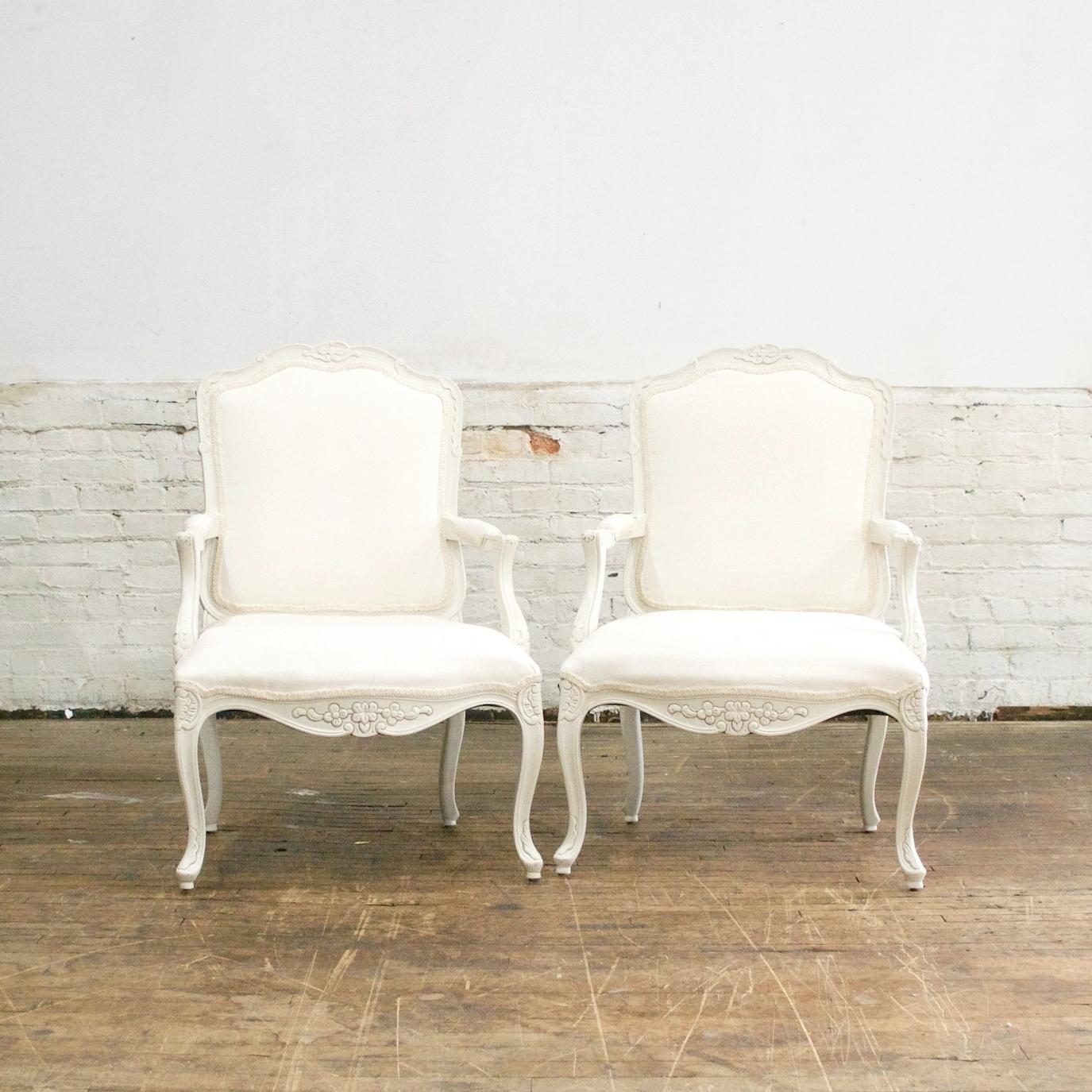 "Kat Arm Chairs    $144 Pair    26""w 22""d 37""h"