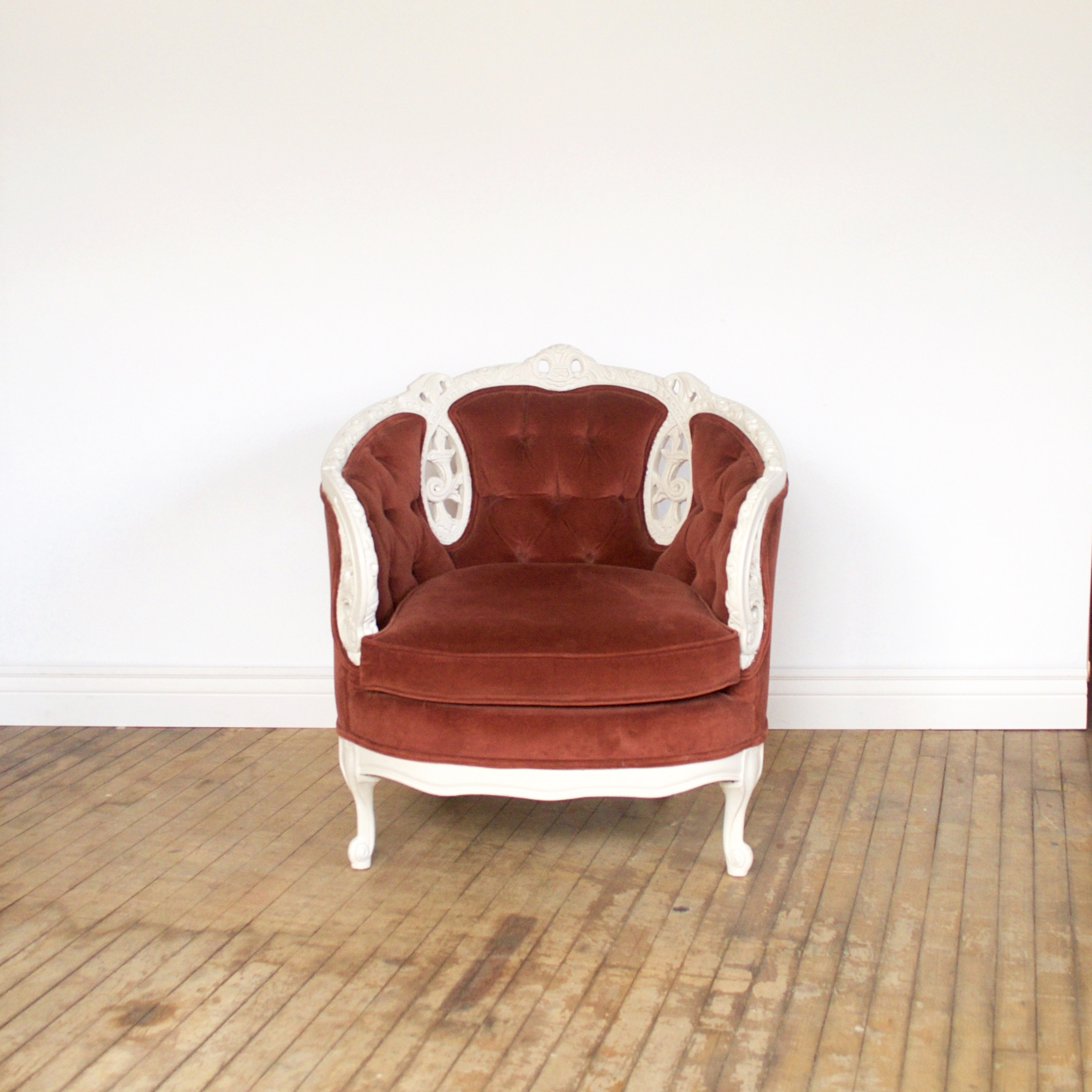 """Cinnamon Chair    $72    33""""w 31""""d 34""""h"""