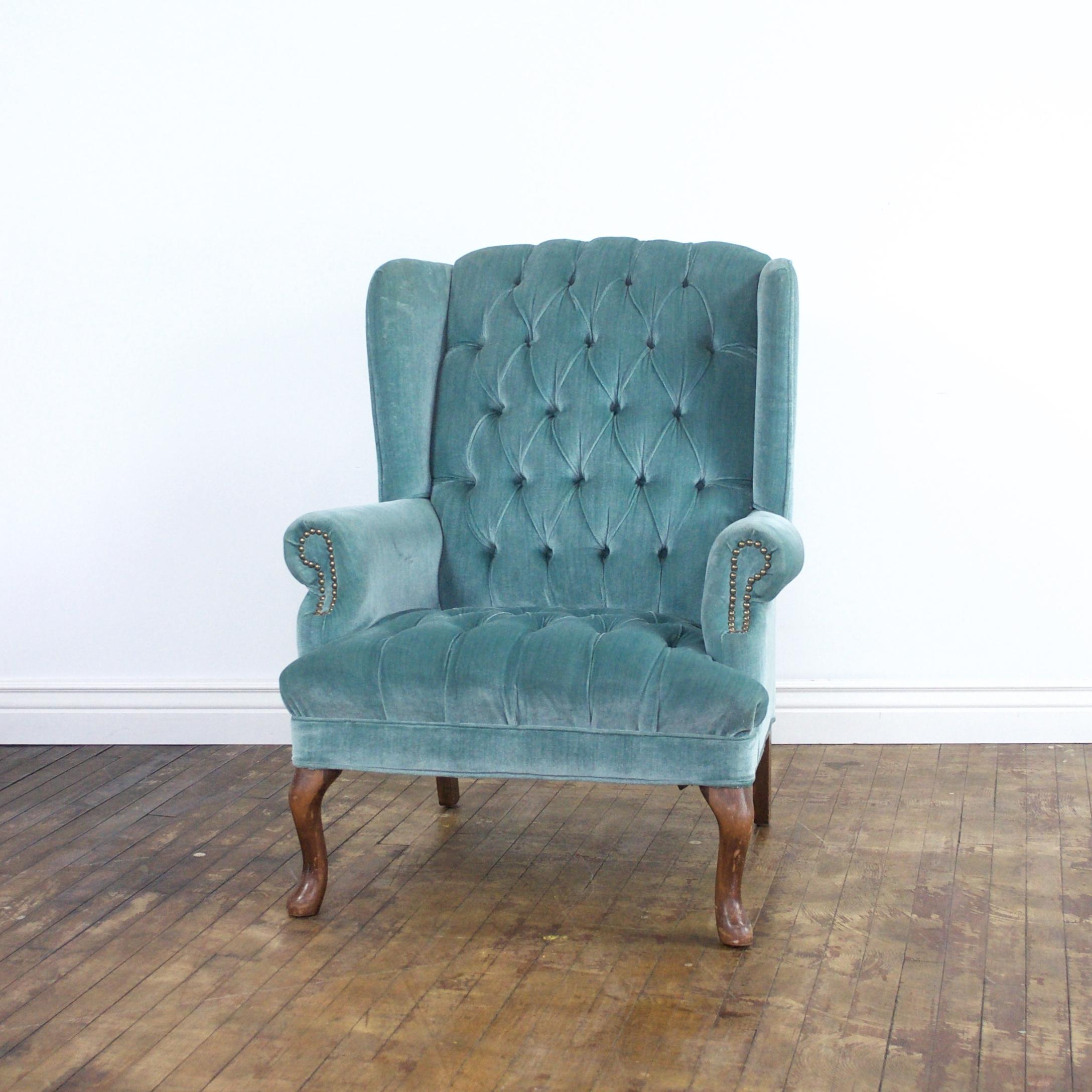 """Melanie Wingback Chair    $72    31""""w 35""""d 40""""h"""