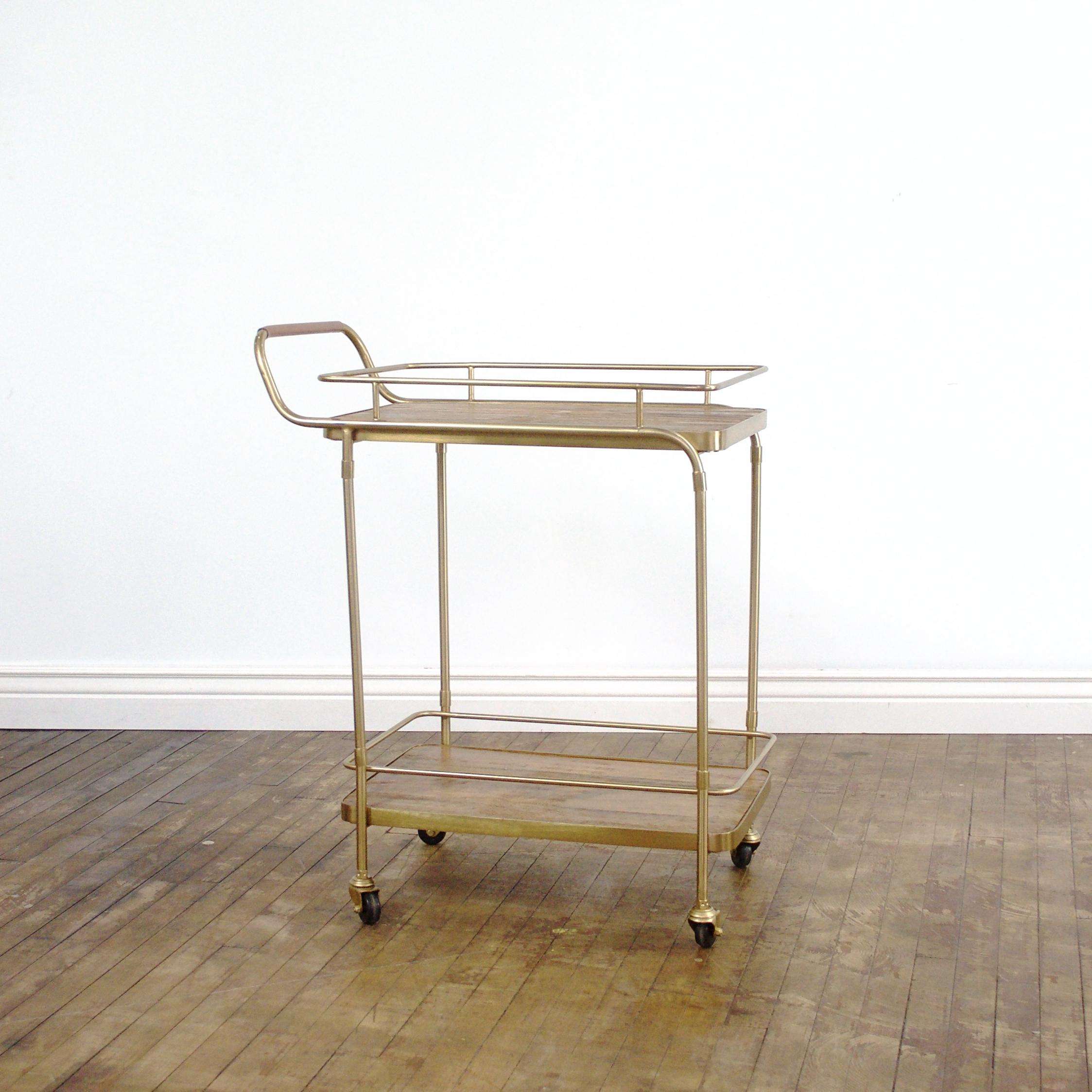 """Christina Bar Cart    $50    28""""w, 17""""d, 36""""h"""