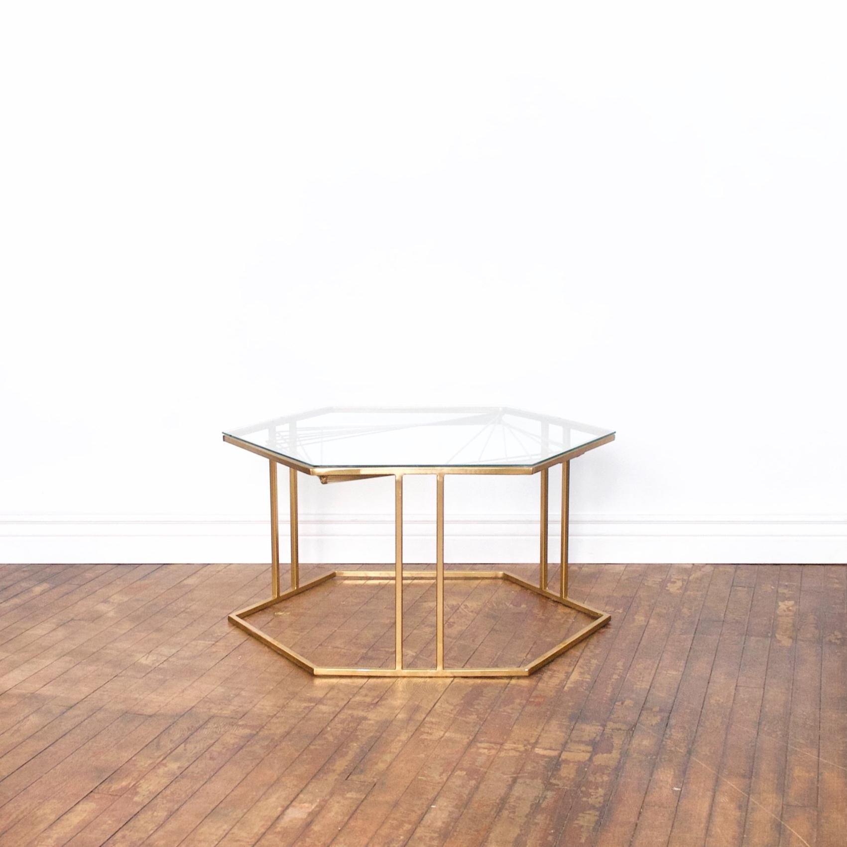 "Hexagon Coffee Table    $48    3' across, 1'4"" high"