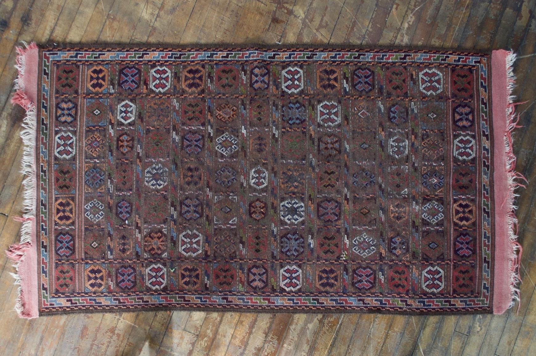 Boho Mauve Weave Rug (5 x3) $48