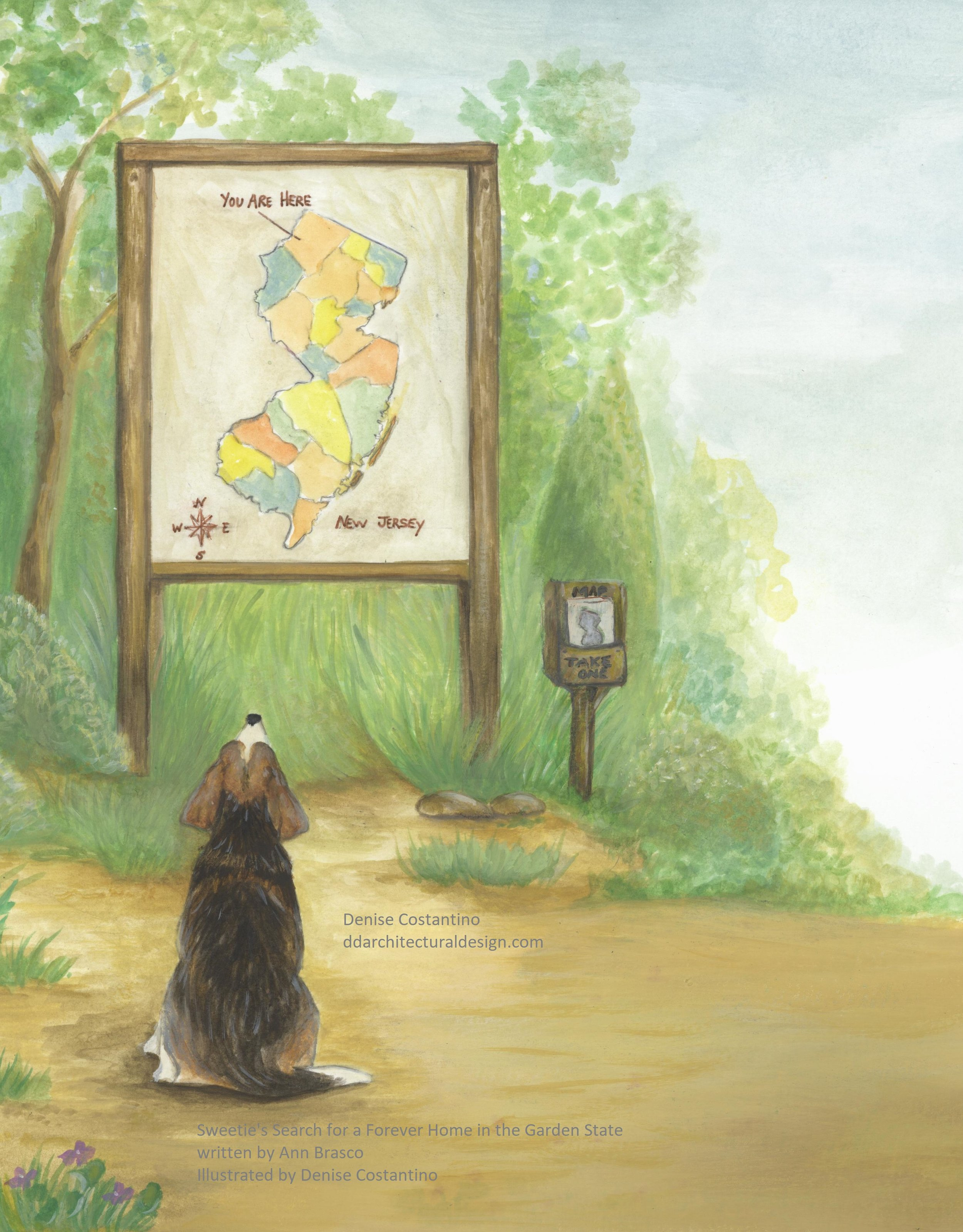 Sweetie with Map