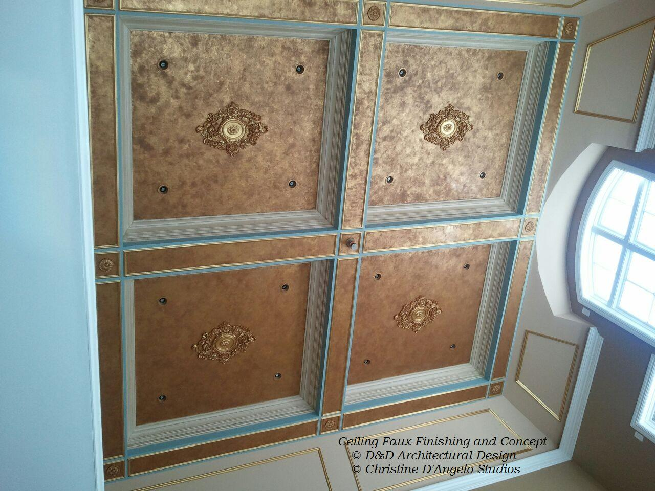 Gilded textured ceiling