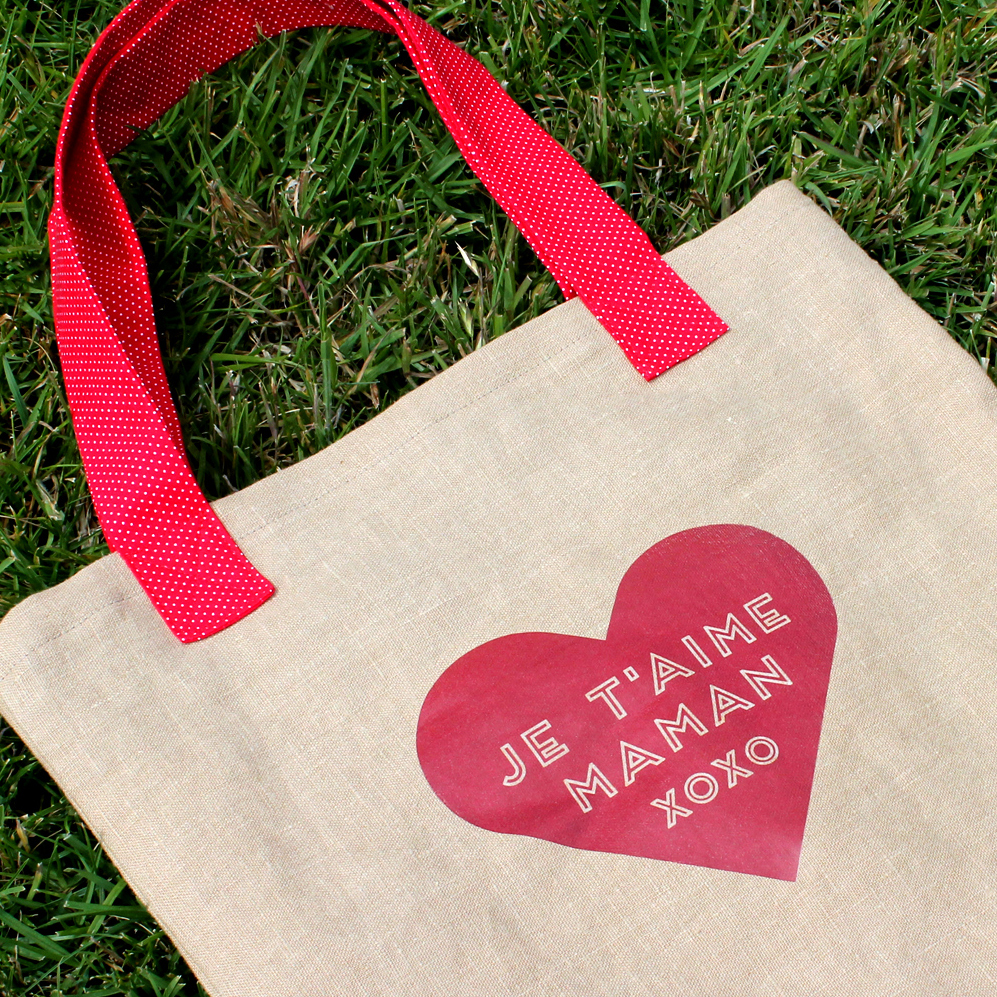 Mother's Day Tote Tutorial and Printable