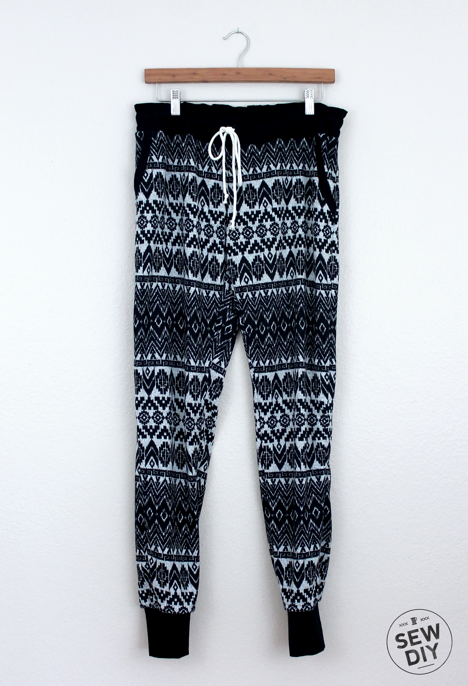 DIY Fair Isle Sweater Knit Hudson Pants