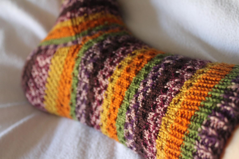Sew DIY - Self Striped Hermione Socks