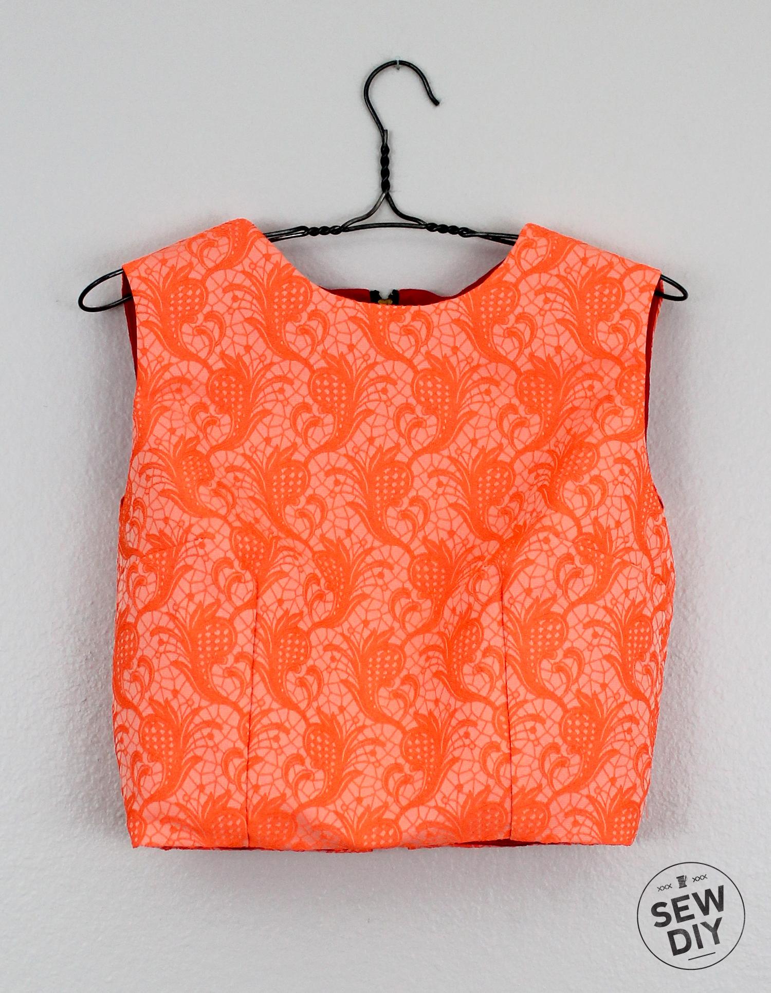 Sew DIY Brocade Crop Top