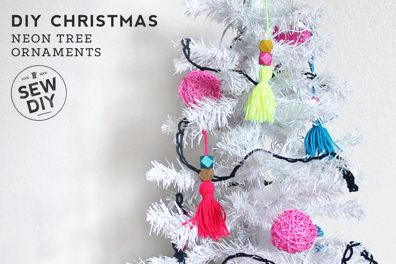 SEW DIY How to Decorate a Neon Christmas Tree