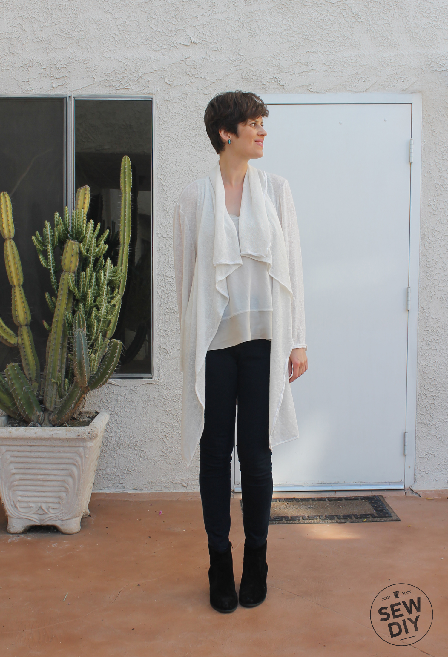 DIY Wrap Sweater Coat BurdaStyle 10/2012 Front