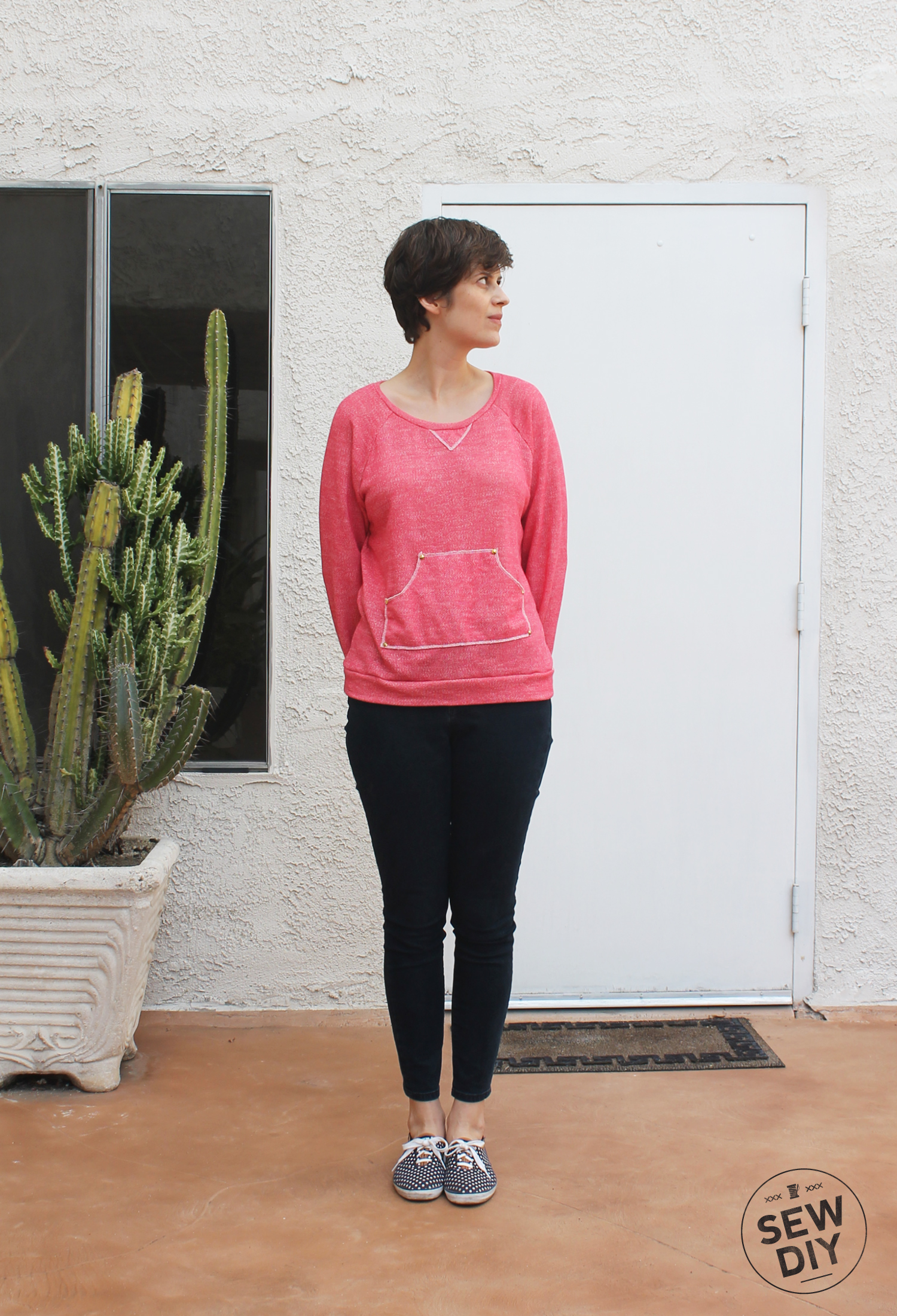 DIY Kangaroo Pocket Linden Sweatshirt – Sew DIY