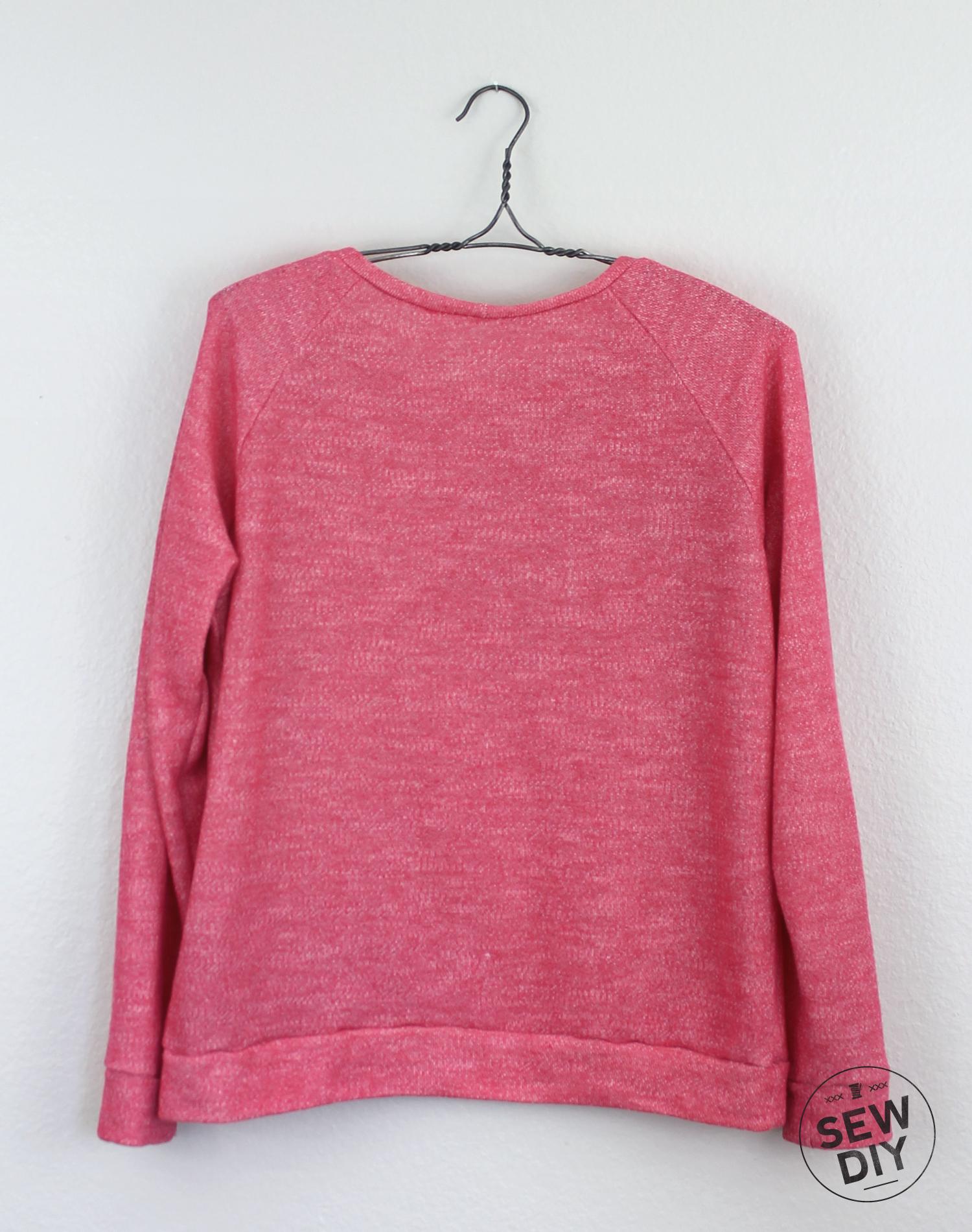 DIY Kangaroo Pocket Linden Sweatshirt Back – Sew DIY