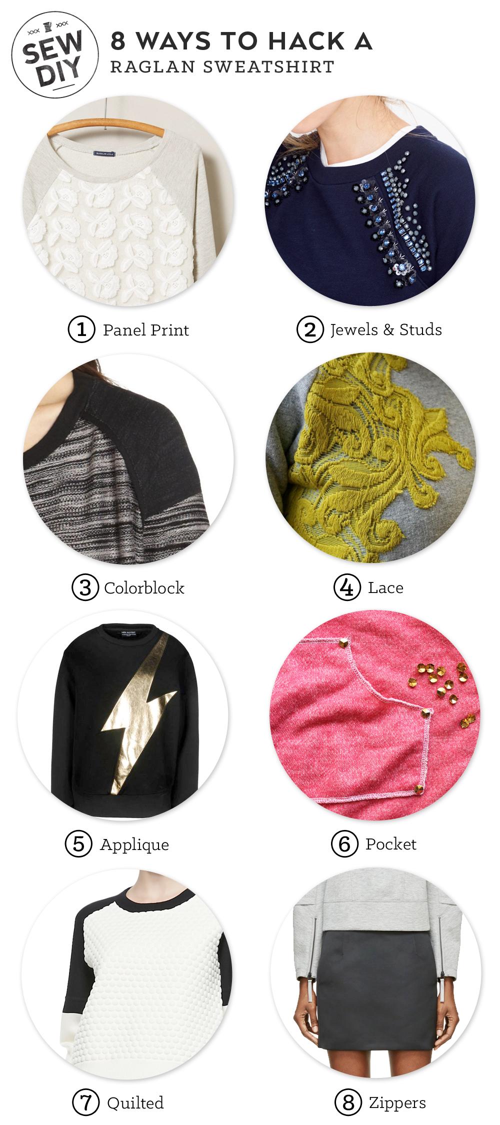 8 Ways to Hack a Raglan Sweatshirt – Sew DIY