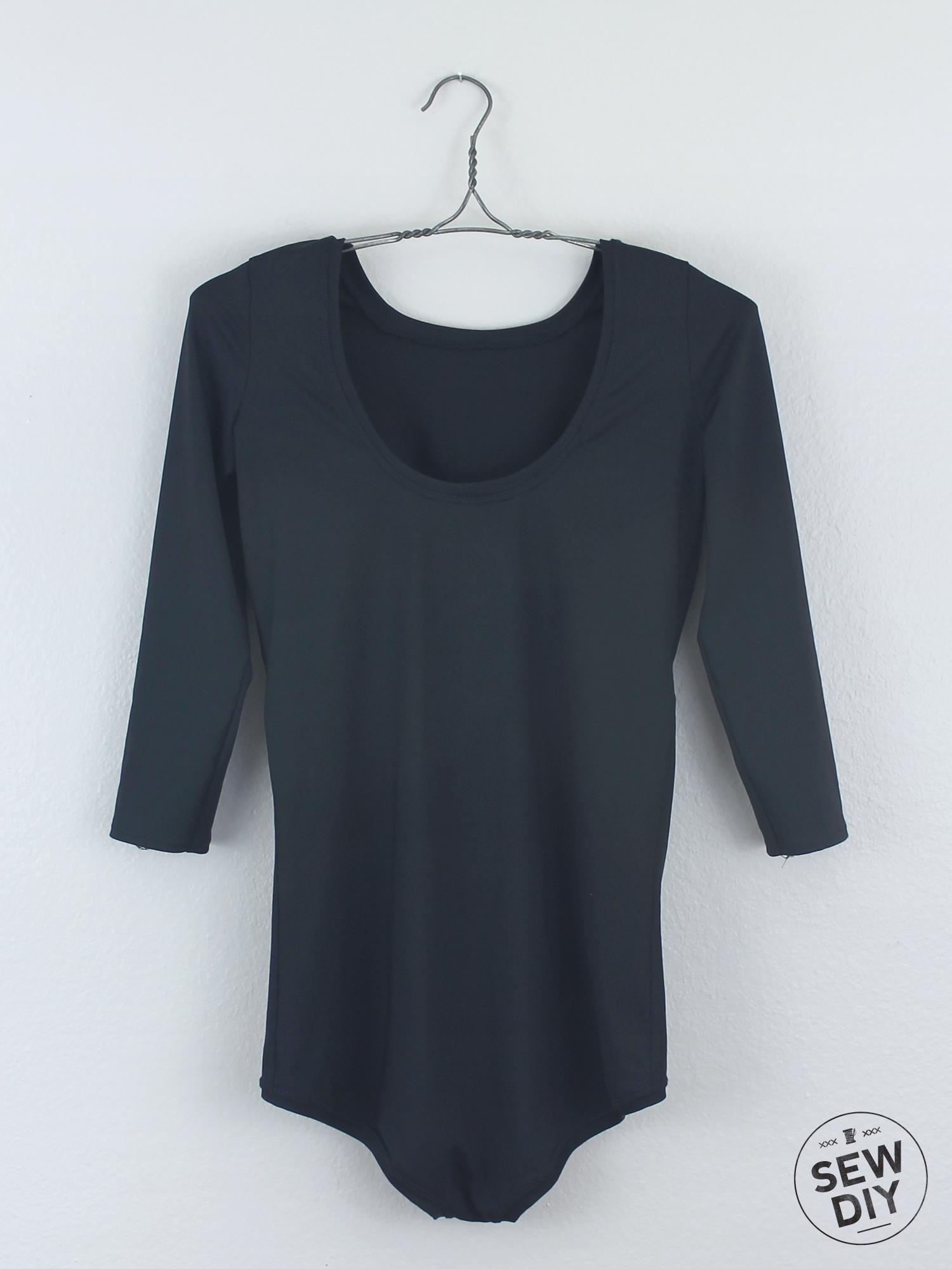DIY Black Scoop Back Nettie Bodysuit – Sew DIY