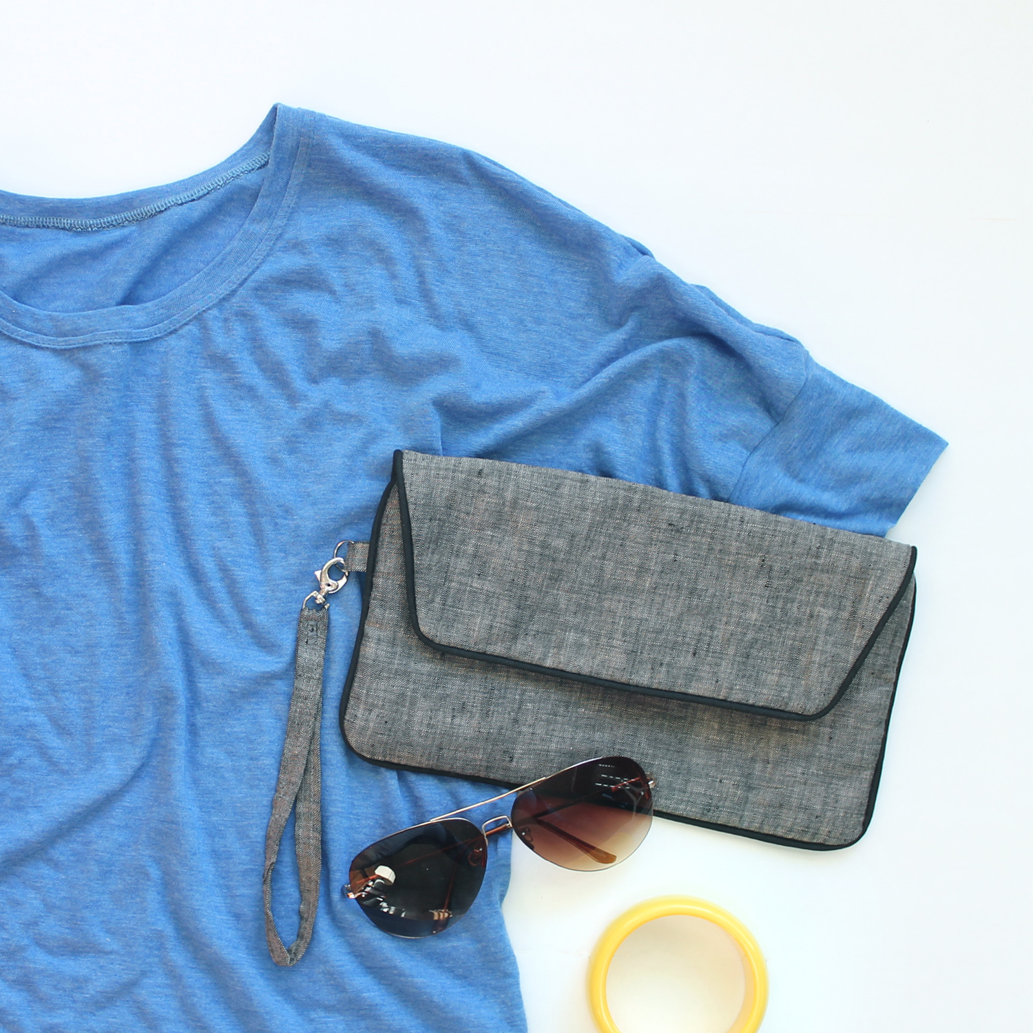 Indiesew Spring Collection –Seafarer Top and Envelope Clutch