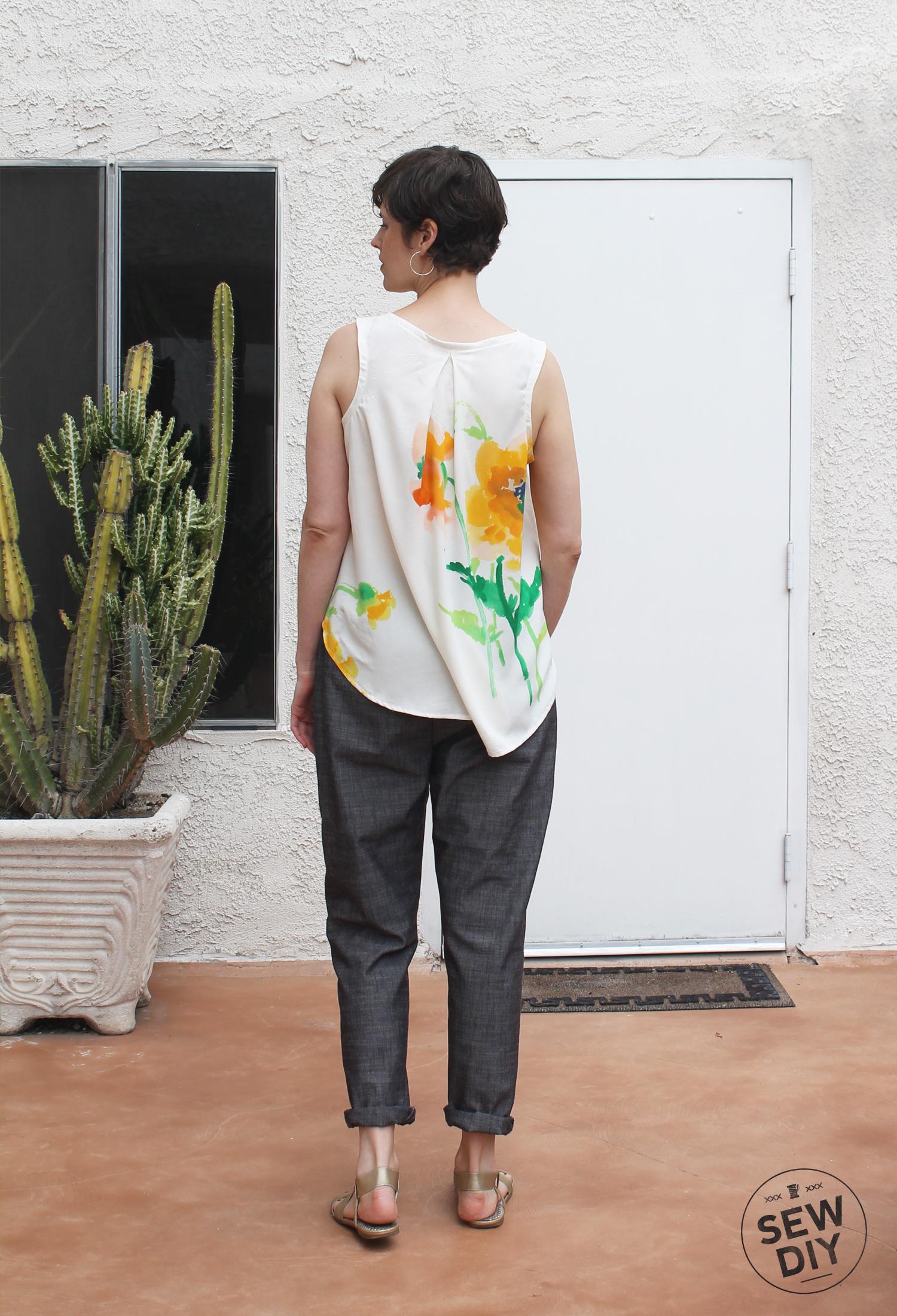 DIY High Waisted Pants Back View – Sew DIY