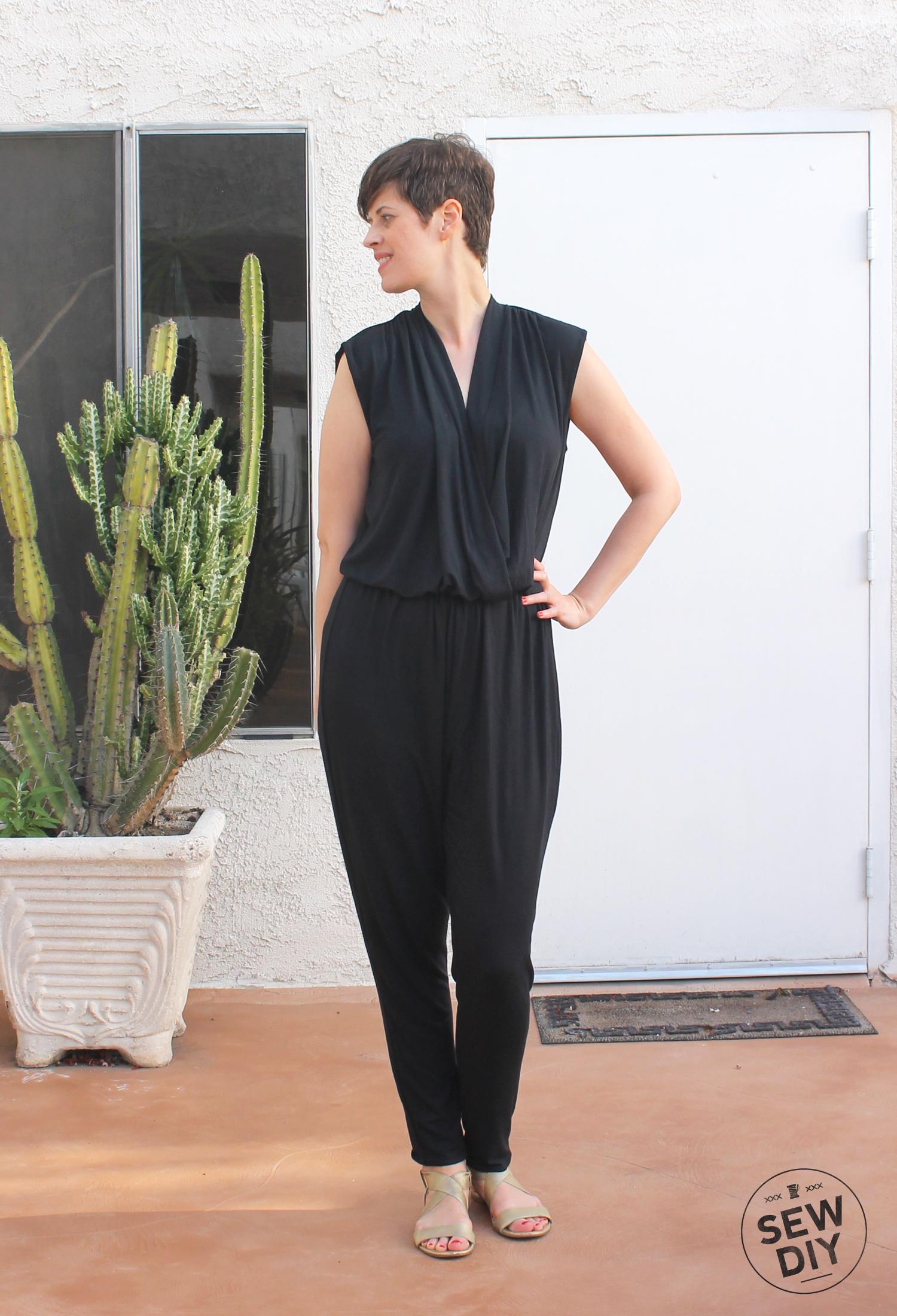 DIY Black Knit Jumpsuit McCall's M7099 –Sew DIY