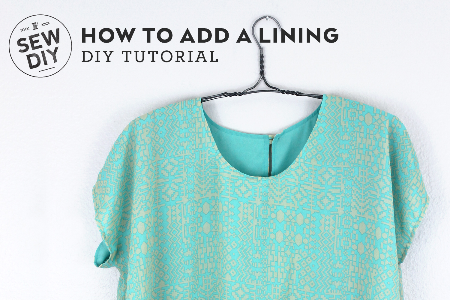 DIY Tutorial – How to add a lining to a top | Sew DIY
