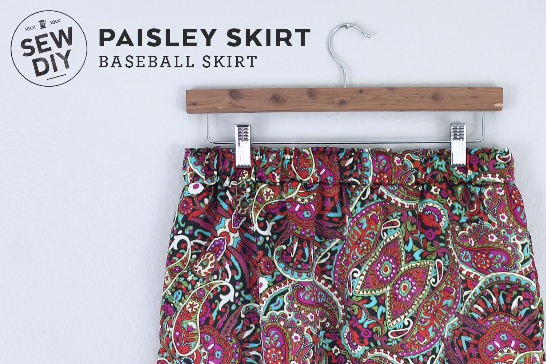 DIY Paisley Baseball Skirt | Sew DIY