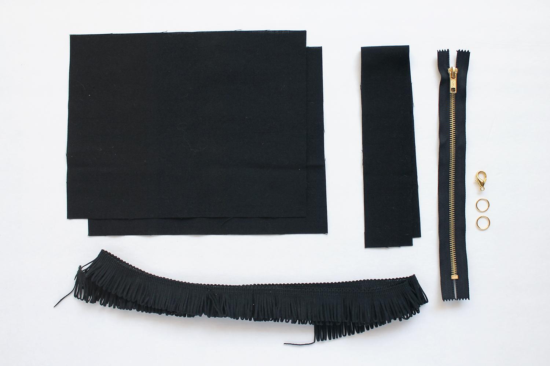 DIY Fringe Clutch Tutorial Supplies | Sew DIY