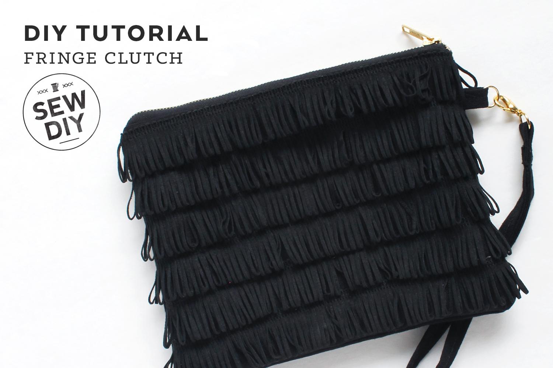 DIY Fringe Clutch Tutorial | Sew DIY