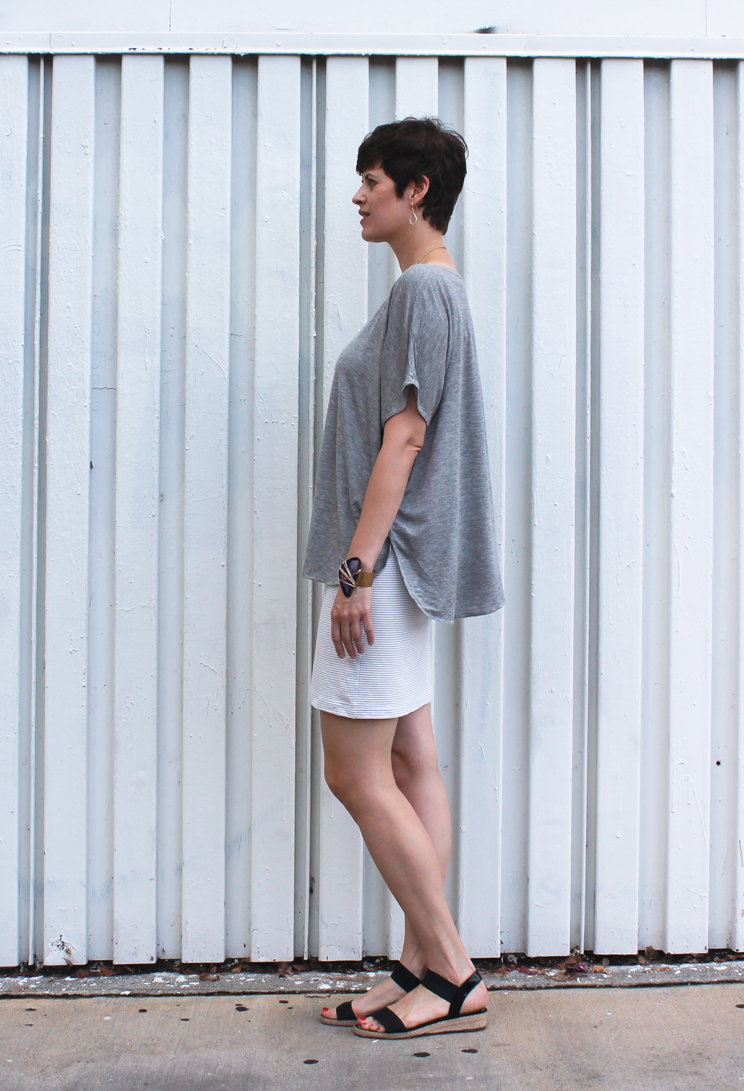 DIY Lilac Striped Knit Skirt | Sew DIY