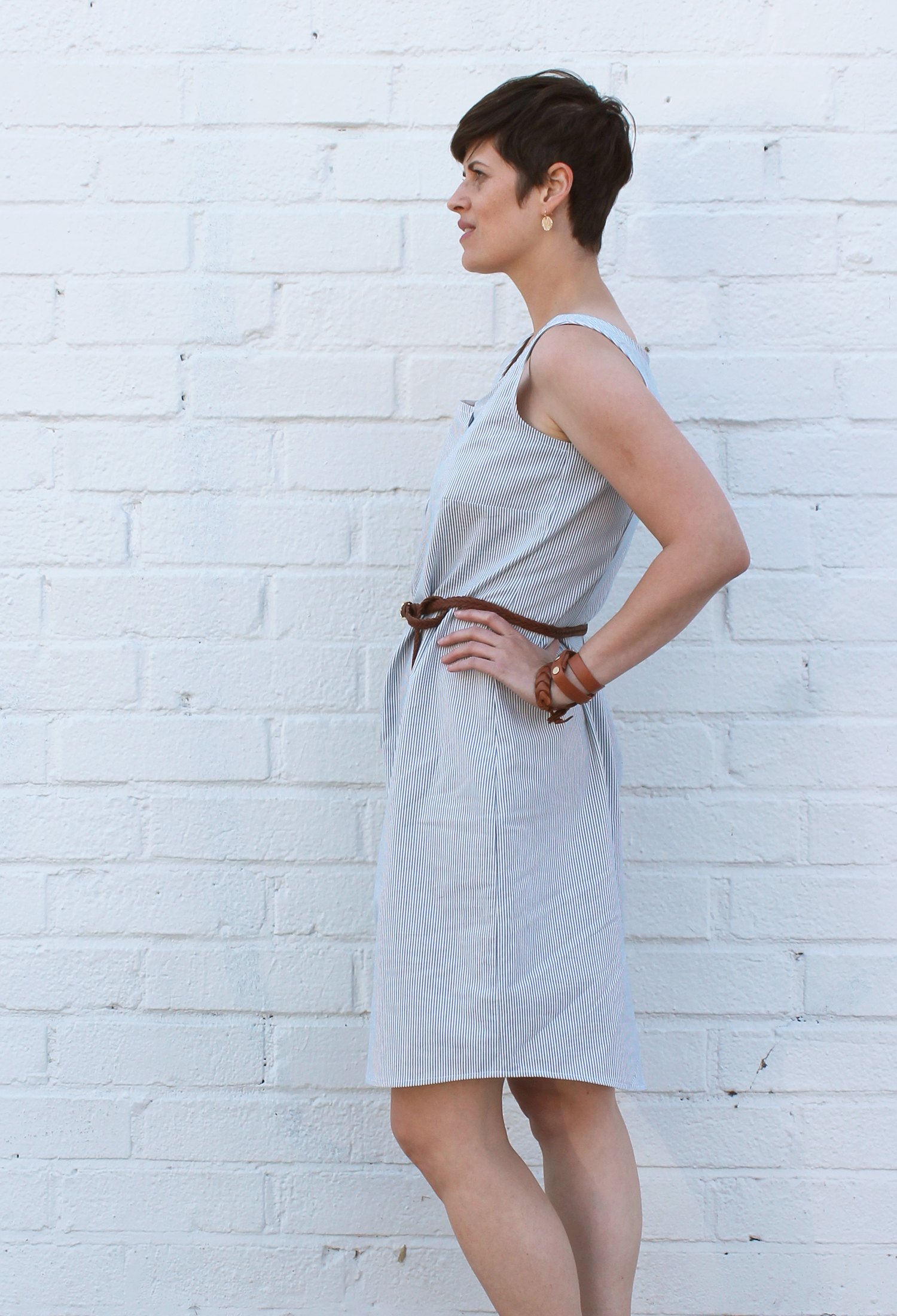 DIY Sleeveless Shirtdress   Sew DIY