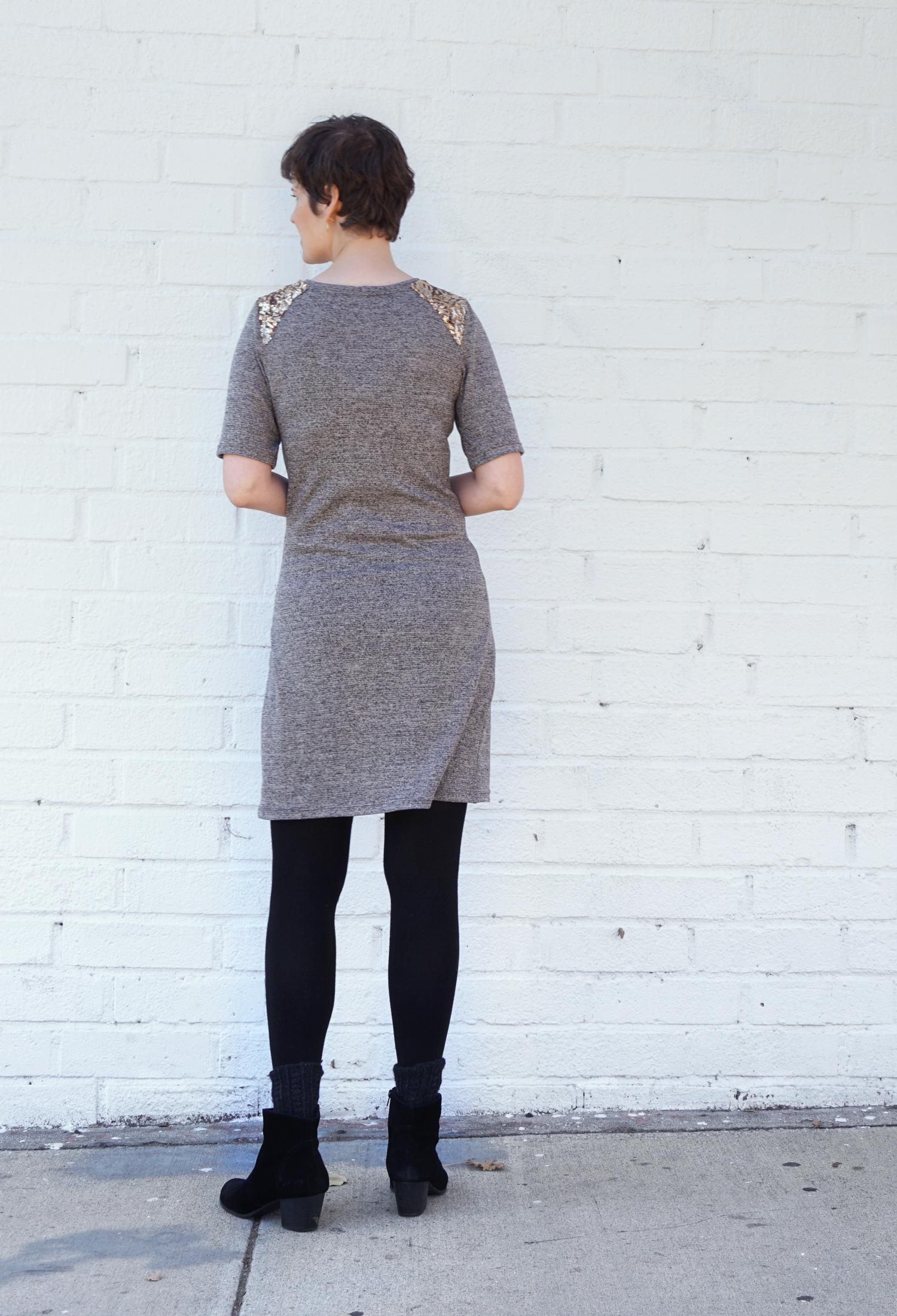 DIY Sequin Shoulder Mesa Dress   Sew DIY
