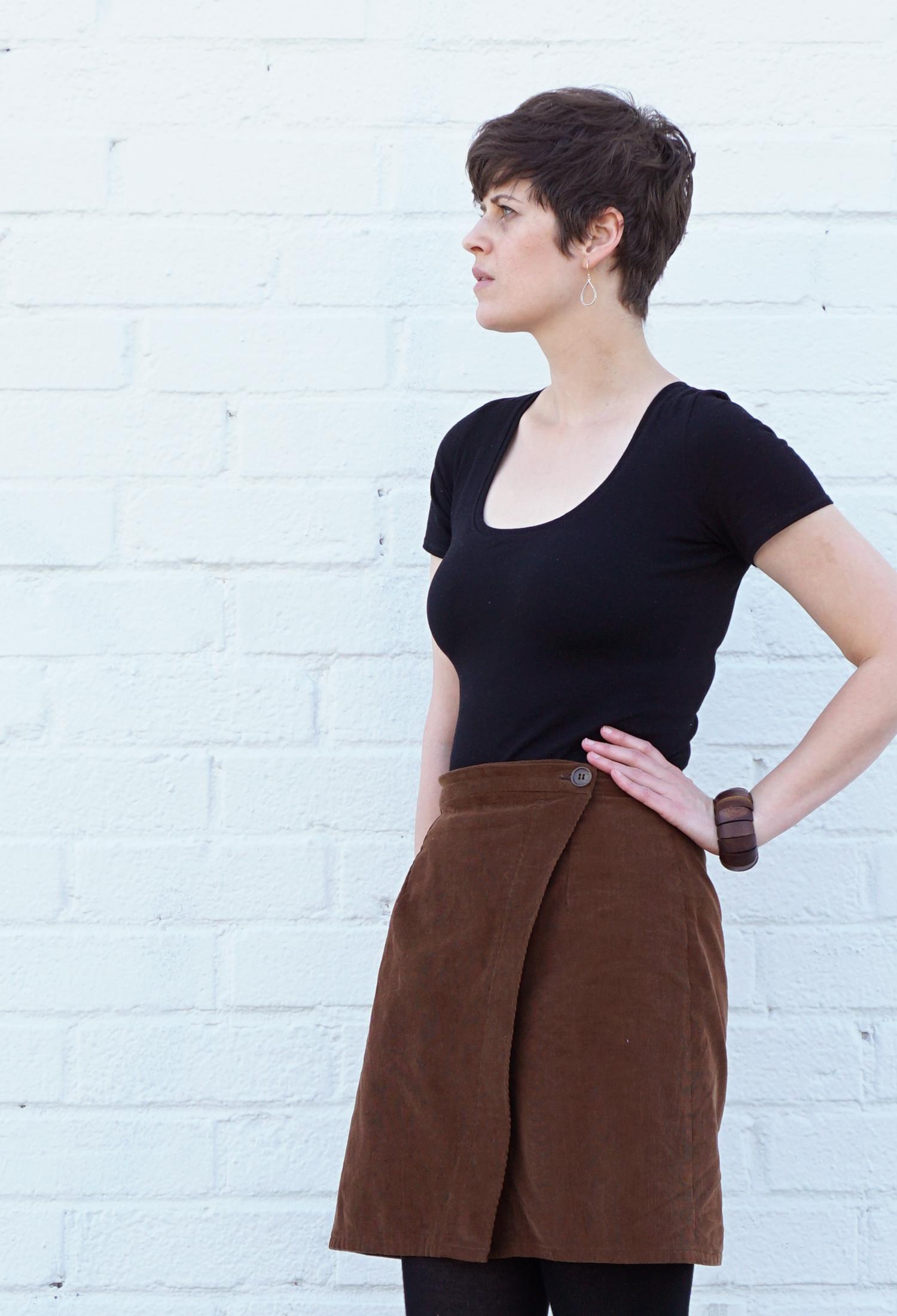 DIY Wardrobe, Nettie Bodysuit and Nita Wrap Skirt | Sew DIY