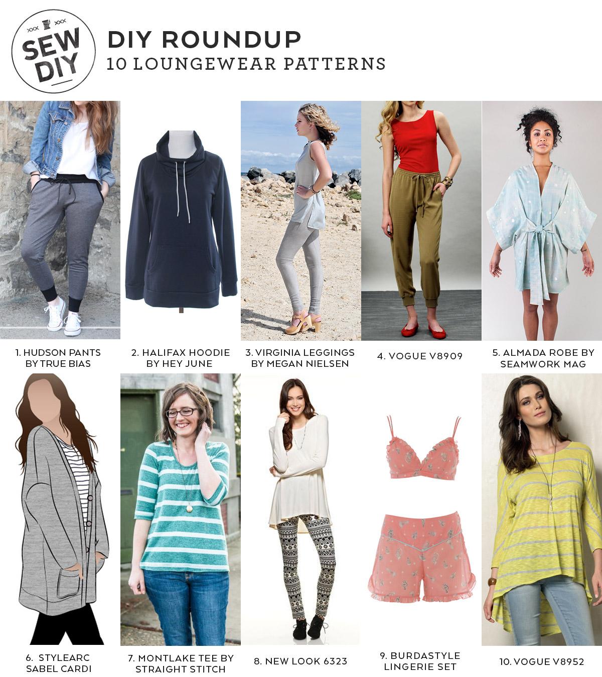 10 Loungewear Sewing Patterns Sew Diy