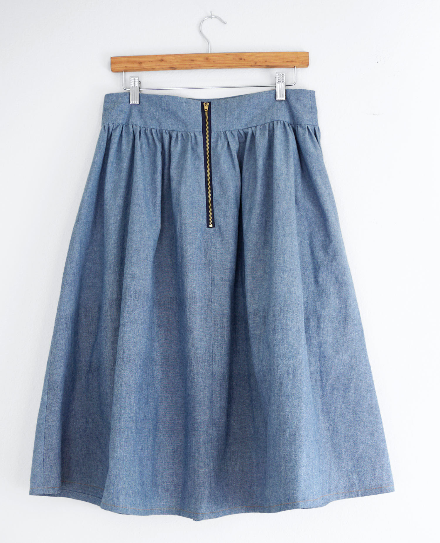DIY Chambray Brumbry Skirt | Sew DIY