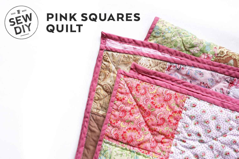 Pink Squares Quilt   Sew DIY