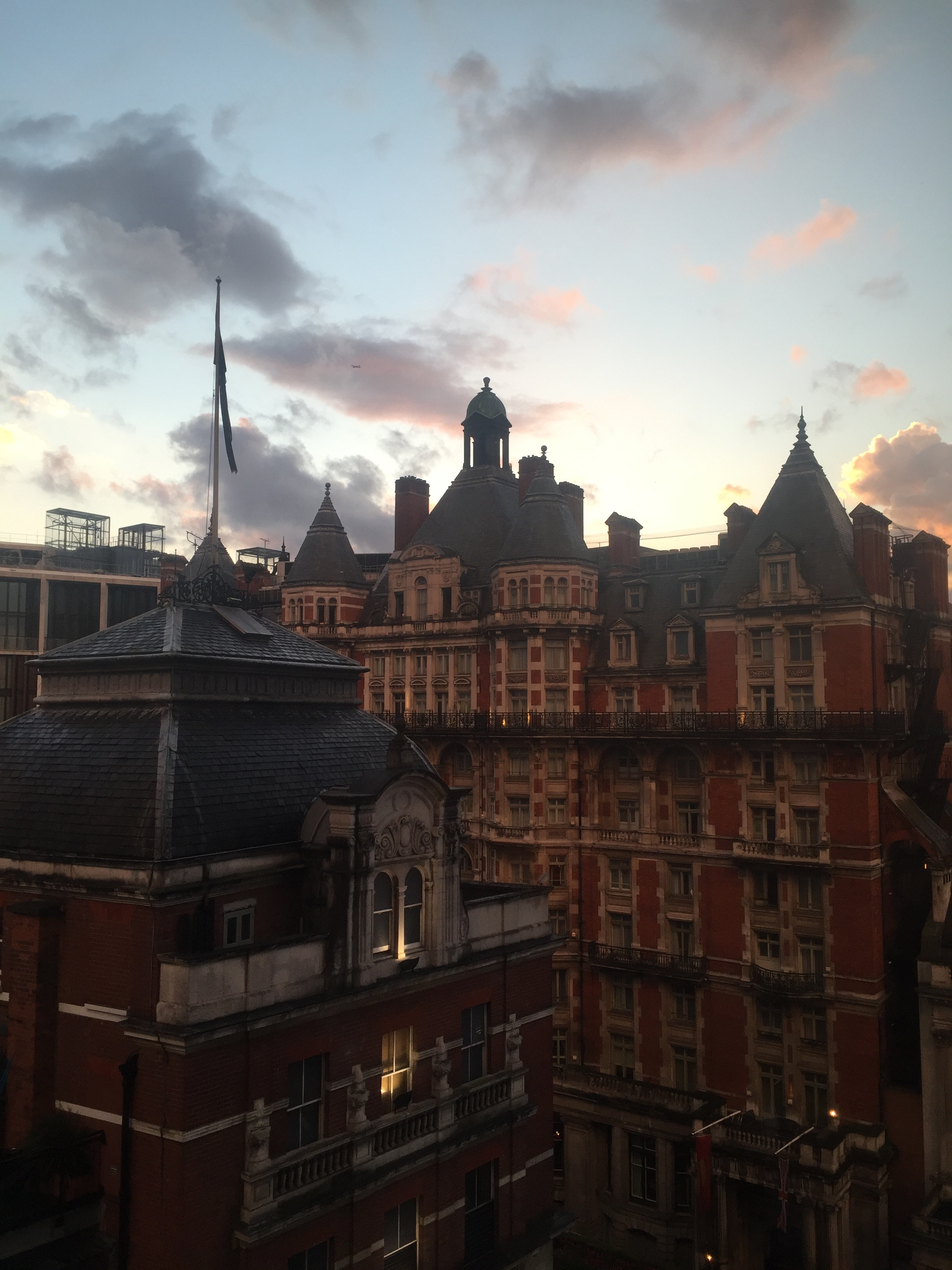 The view from my hotel room in London