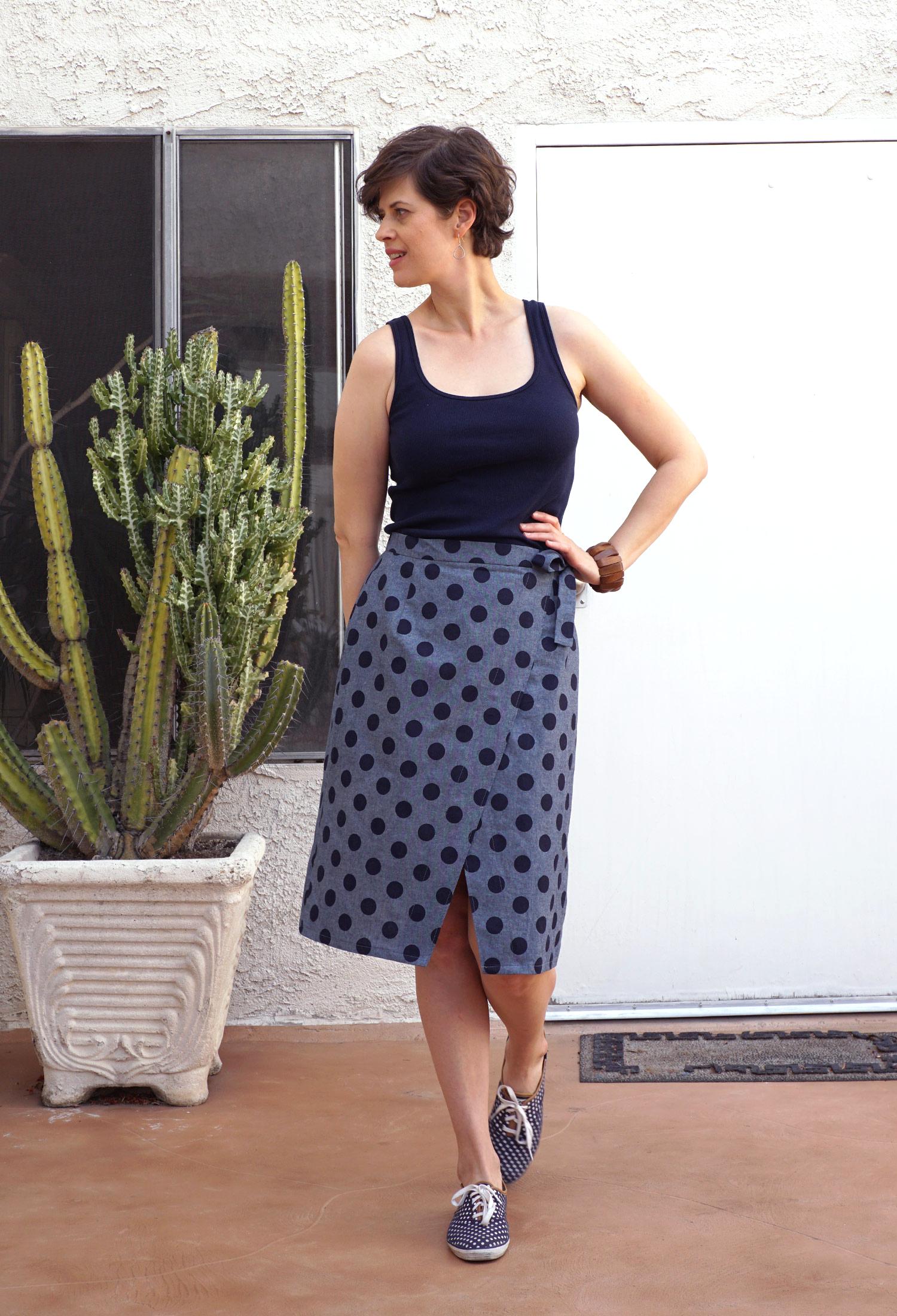 DIY Polka Dot Nita Wrap Skirt | Sew DIY
