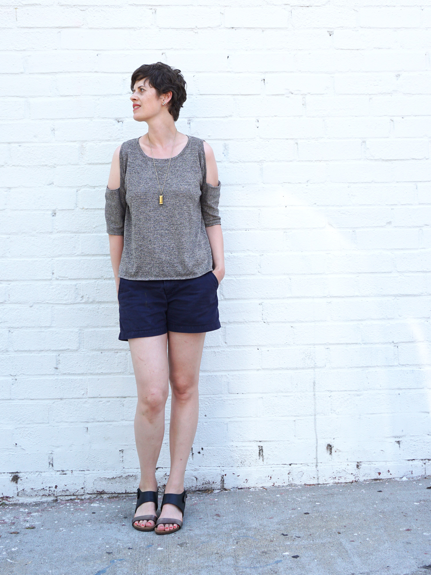 Click to learn how to add a shoulder cut out to any pattern | Sew DIY