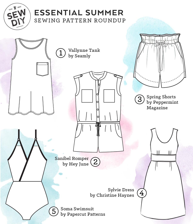 5 Essential Summer Sewing Patterns Sew Diy