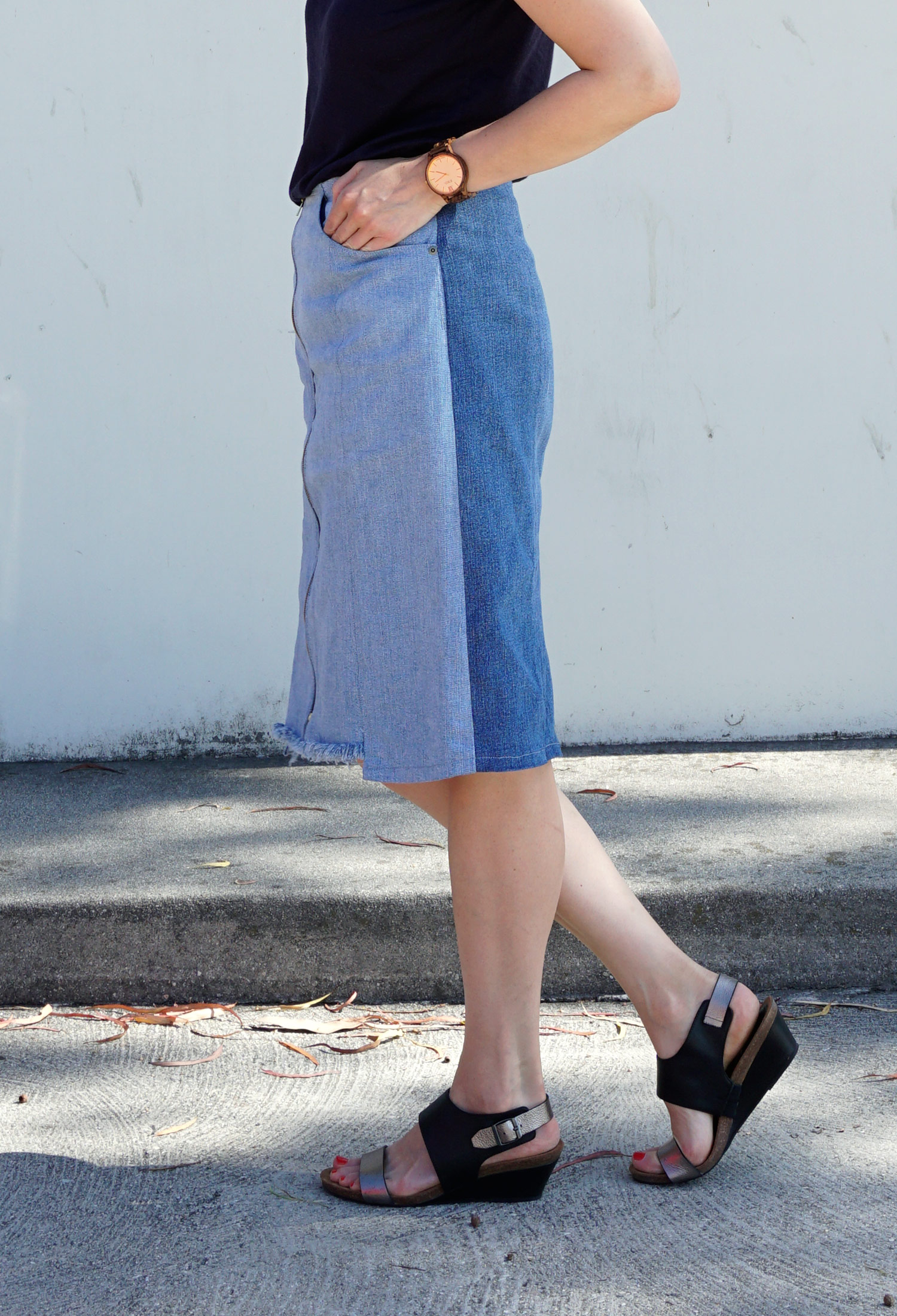 Refashioners 2016 DIY Zip Front Denim Skirt | Sew DIY