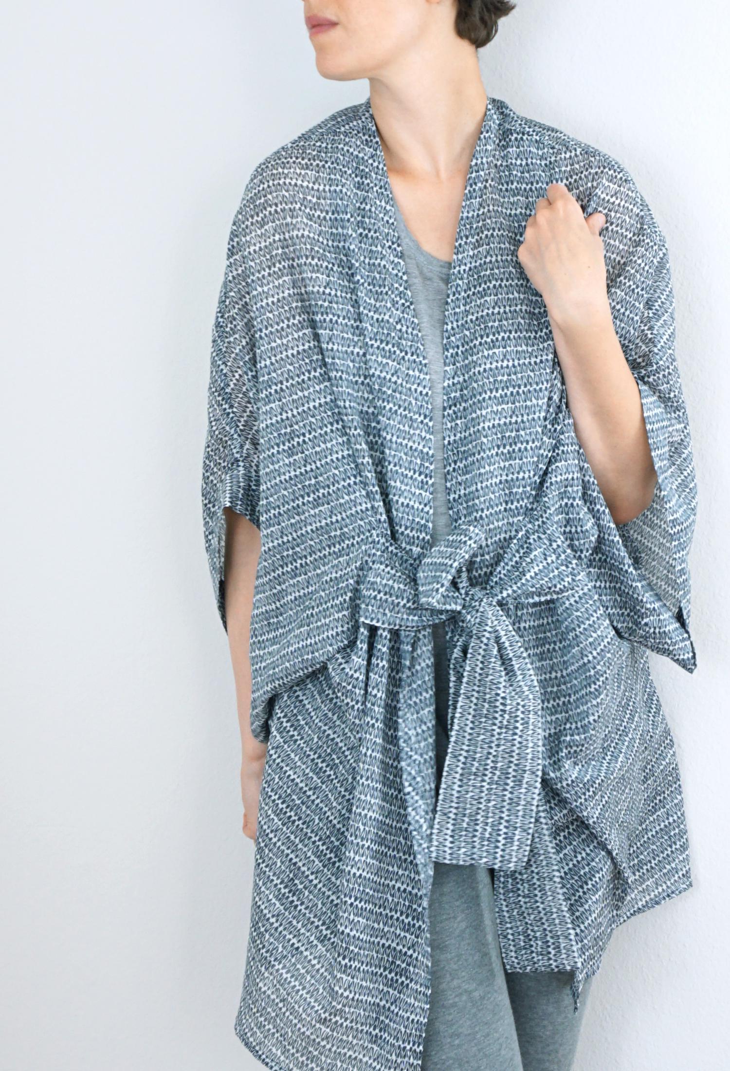 Sewing Kimono Robe Pattern