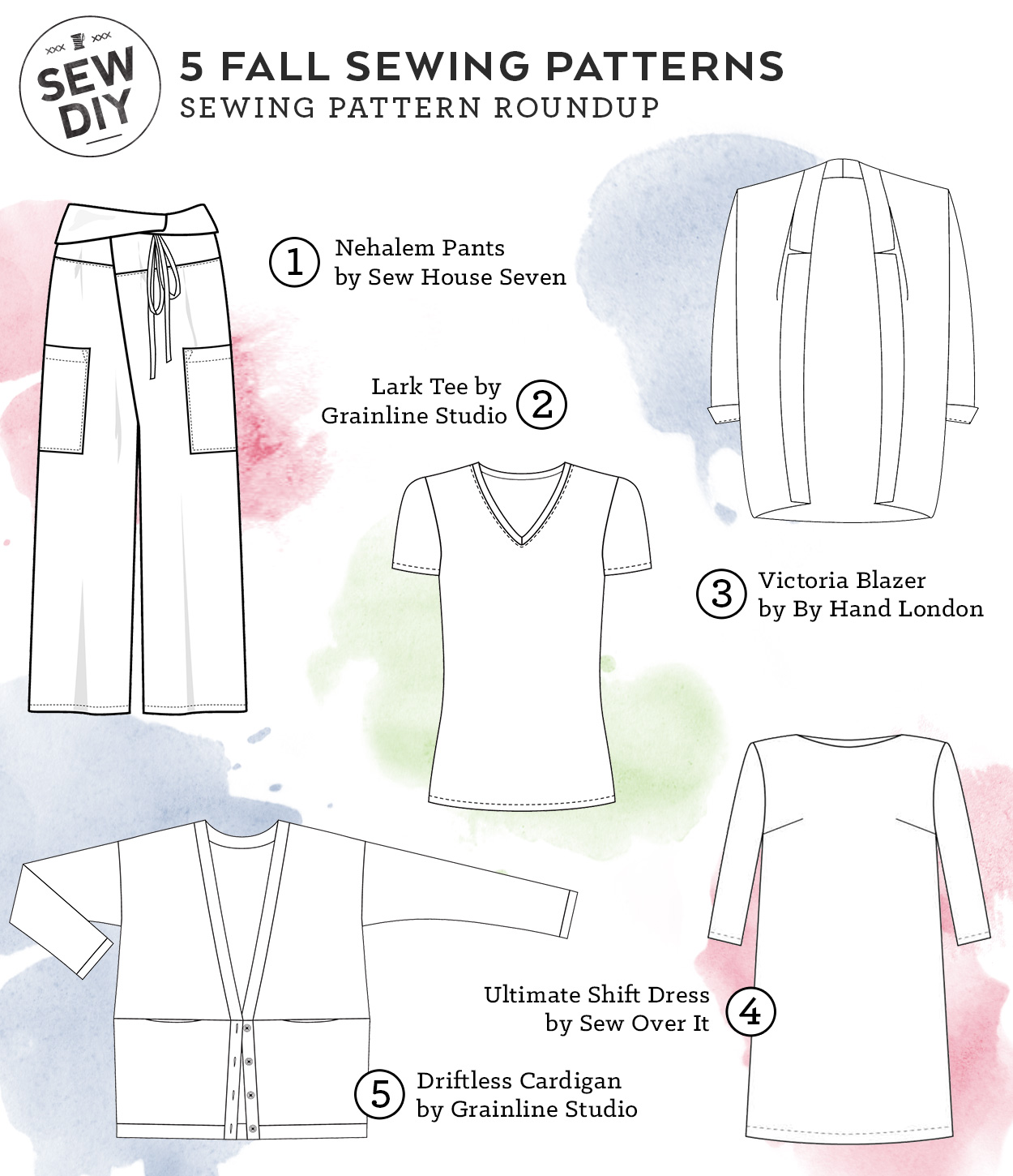 Sew yourself a classic fall wardrobe with these 5 Sewing Patterns   Sew DIY