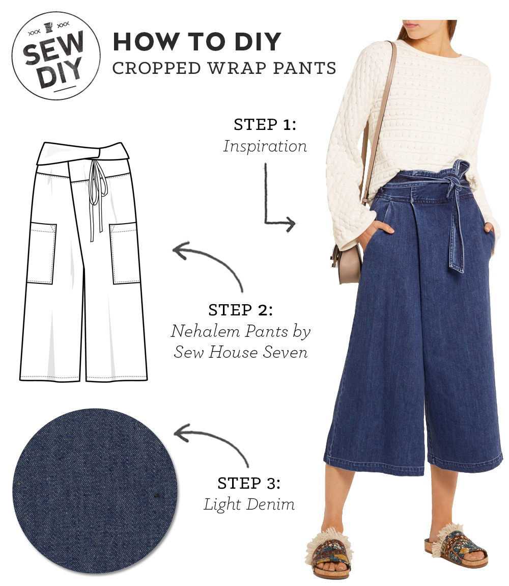 How to DIY Cropped Wrap Pants | Sew DIY