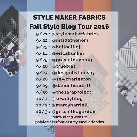 Style Maker Fabrics Fall Style Blog Tour 2016
