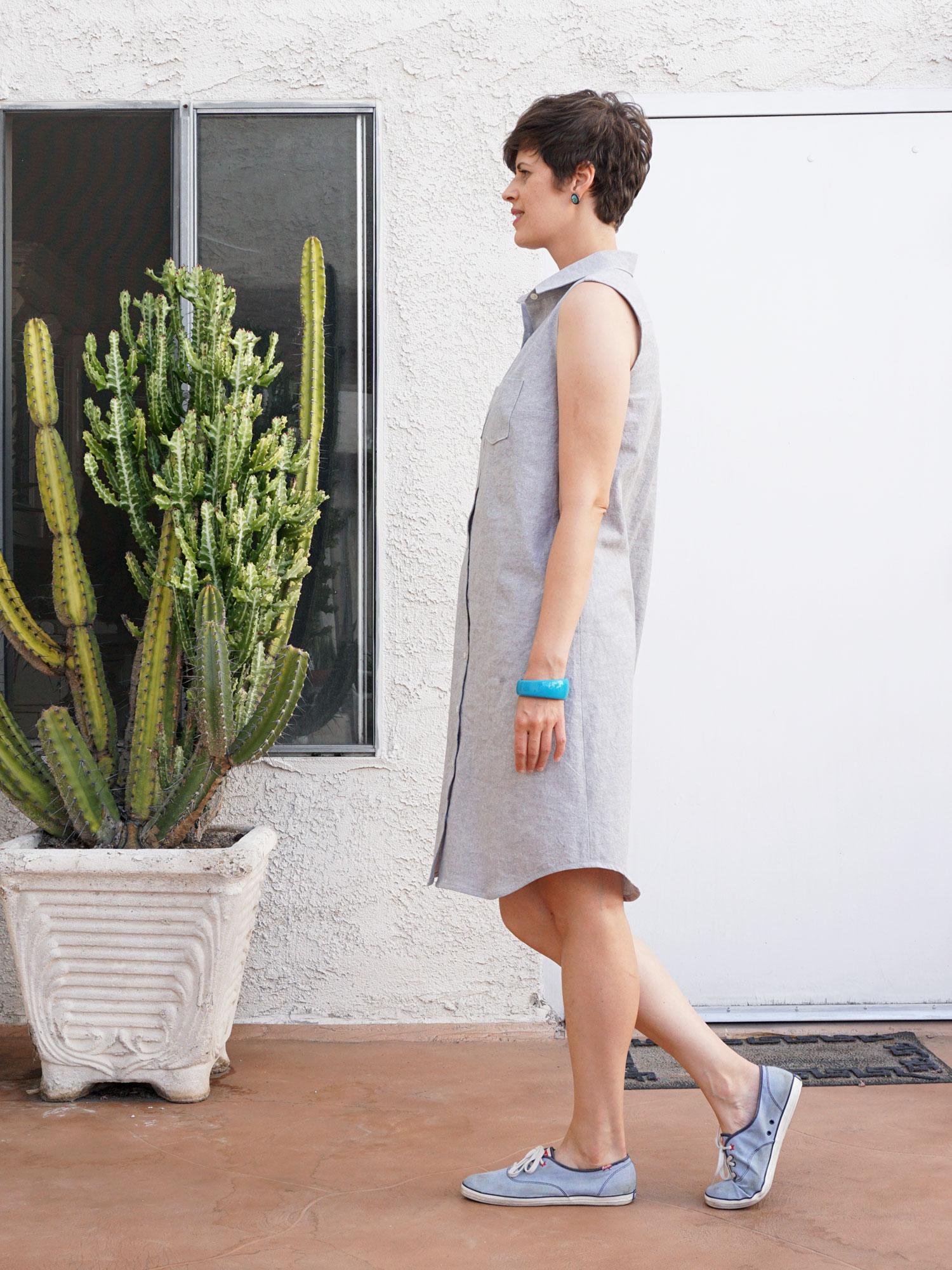 DIY Linen Shirtdress, review of the Alder Shirtdress sewing pattern by Grainline Studio | Sew DIY