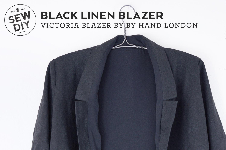 DIY Black Linen Blazer | Sew DIY